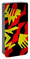 Portable Battery Charger featuring the mixed media Jazz by Michele Myers