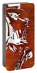 Jazz Saxofon Player Coffee Painting Portable Battery Charger