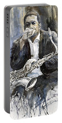 Jazz Saxophonist John Coltrane Yellow Portable Battery Charger