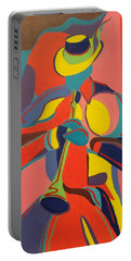 Jazzamatazz Horn Portable Battery Charger by Angelo Thomas