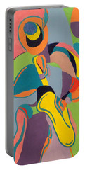 Jazzamatazz Saxophone Portable Battery Charger by Angelo Thomas