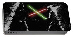 Jedi Duel Portable Battery Charger by George Pedro