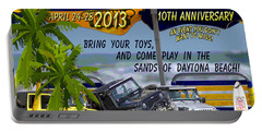 Portable Battery Charger featuring the photograph Jeep Beach 2013 Welcomes All Jeepers by DigiArt Diaries by Vicky B Fuller