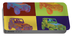 Jeep Wrangler Rubicon Pop Art Portable Battery Charger
