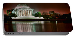 Jefferson Memorial At Night Portable Battery Charger