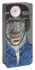Portable Battery Charger featuring the painting Jeffrey The Coal Miner by Jeffrey Koss