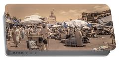 Jemaa El Fna Market In Marrakech Portable Battery Charger