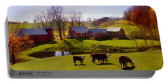 Jenne Farm In Autumn Portable Battery Charger
