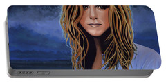 Jennifer Aniston Painting Portable Battery Charger