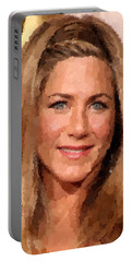 Jennifer Aniston Portrait Portable Battery Charger