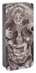 Jerry Garcia . . Magic Is What We Do - Music Is How We Do It Portable Battery Charger by Sean Connolly