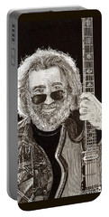 Jerry Garcia String Beard Gutaire Portable Battery Charger by Jack Pumphrey