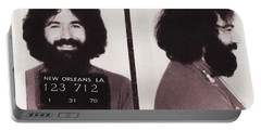 Jerry Garcia Mugshot Portable Battery Charger by Bill Cannon
