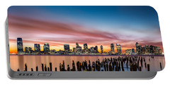 Jersey City Skyline At Sunset Portable Battery Charger