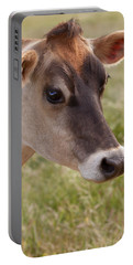 Jersey Cow Portrait Portable Battery Charger