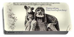 Jesus And Lamb Portable Battery Charger