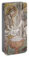 Jesus And Saint Peter, Detail From Jesus Washing The Feet Of The Apostle Mosaic Portable Battery Charger