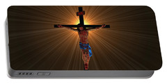 Jesus Christ Portable Battery Charger by Michael Rucker