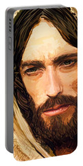 Jesus Of Nazareth Portrait Portable Battery Charger