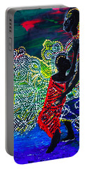 Portable Battery Charger featuring the painting Jesus Walking On Water by Gloria Ssali