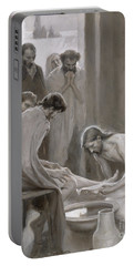 Jesus Washing The Feet Of His Disciples Portable Battery Charger