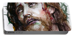 The Suffering God Portable Battery Charger by Laur Iduc