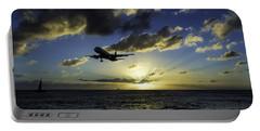 jetBlue landing at St. Maarten Portable Battery Charger