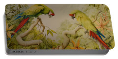 Jewels Of The Rain Forest  Military Macaws Portable Battery Charger