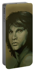 Jim Morrison Painting Portable Battery Charger