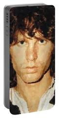 Jim Morrison Portrait Portable Battery Charger