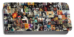 Jimi Hendrix Collage Portable Battery Charger
