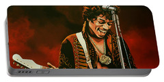 Jimi Hendrix Painting Portable Battery Charger