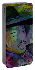 Portable Battery Charger featuring the photograph Jimi Hendrix Purple Haze by Gary Keesler