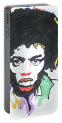 Portable Battery Charger featuring the painting Jimi Hendrix by Stormm Bradshaw