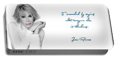 Joan Rivers Portable Battery Charger by Maciek Froncisz