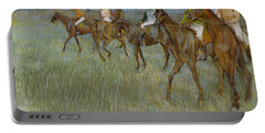 Jockeys In The Rain, 1886 Portable Battery Charger