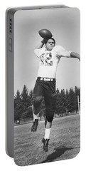 Joe Francis Throwing Football Portable Battery Charger by Underwood Archives