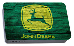 John Deere Barn Door Portable Battery Charger by Dan Sproul