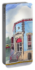 Portable Battery Charger featuring the painting John Dillinger Was Here by Katherine Miller