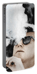 John F Kennedy Cigar And Sunglasses Portable Battery Charger