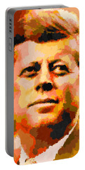 John Fitzgerald Kennedy - Abstract Portable Battery Charger