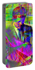 John Fitzgerald Kennedy Jfk In Abstract 20130610v2 Portable Battery Charger
