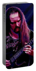 John Petrucci Painting Portable Battery Charger by Paul Meijering