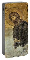 John The Baptist-detail Of Deesis Mosaic  Hagia Sophia-judgement Day Portable Battery Charger