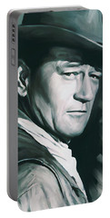 John Wayne Artwork Portable Battery Charger