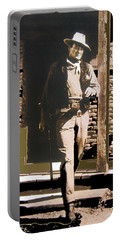 John Wayne Exciting The Sheriff's Office Rio Bravo Set Old Tucson Arizona 1959-2013 Portable Battery Charger by David Lee Guss