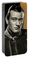 John Wayne  Publicity Photo In Costume Stagecoach 1939-2009 Portable Battery Charger