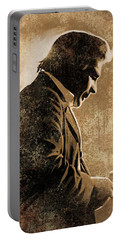 Johnny Cash Artwork Portable Battery Charger by Sheraz A