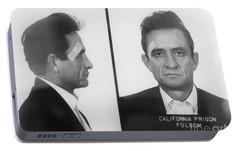 Johnny Cash Folsom Prison Portable Battery Charger by David Millenheft