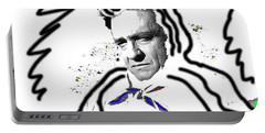Portable Battery Charger featuring the photograph Johnny Cash Man In White Literary Homage Old Tucson Arizona 1971-2008 by David Lee Guss